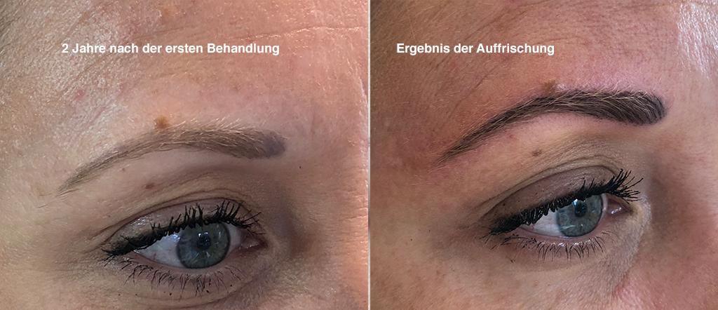 Auffrischung Permanent-Make-up Augenbraue Plochmann Starnberg