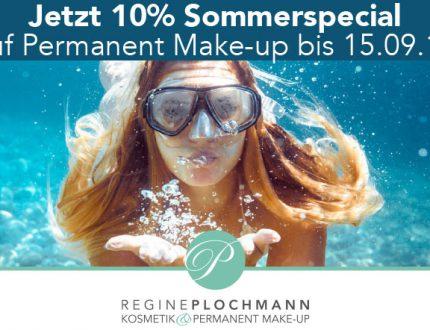10 % Sommerspecial Permanent Make-up Plochmann Kosmetik Starnberg