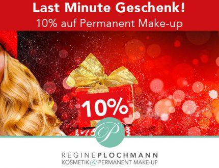 Last Minute Geschenk! 10% auf Permanent Make-up